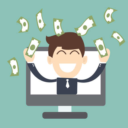 entrepreneur: online entrepreneur - Successful business Illustration