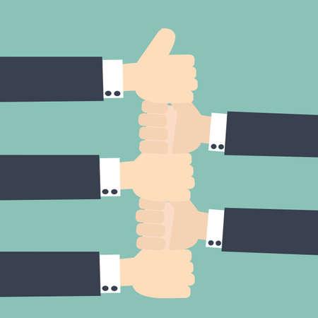 employed: employed teamwork concept Illustration