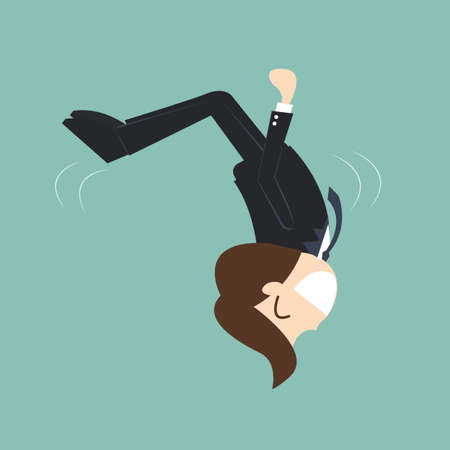 business agility concept - businessman Somersault