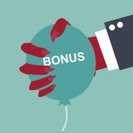 rend: bonus concept - Hand devil squeezing a balloon bonus