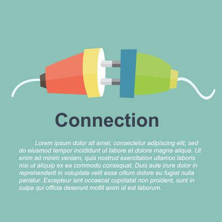 unplugged: concepto de conexi�n - cable el�ctrico desenchufado Vectores