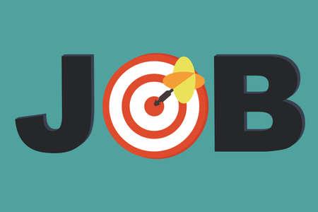 Job Focus - carrière concept de counseling