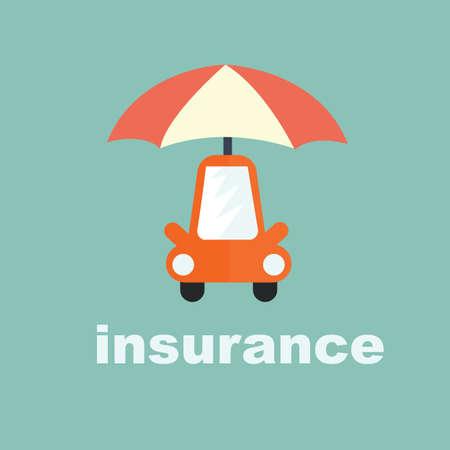 la protection de voitures - concept de voiture d'assurance