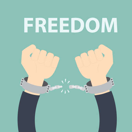 man in jail: Freedom concept - Male hands breaking steel