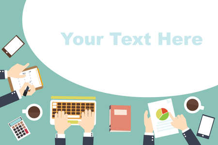 Conference template flat design with space for your texts Ilustracja