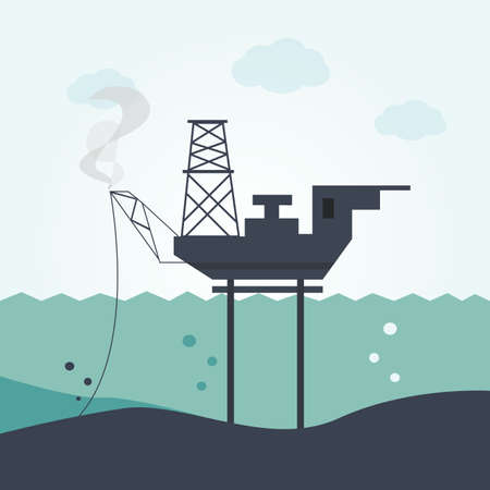 deep drilling: Oil and gas offshore industry