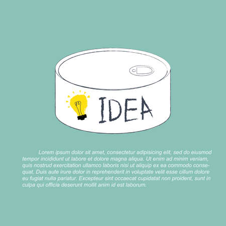creativity concept: Idea can concept of creativity