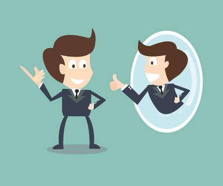 Verander jezelf met positieve self-talk-concept Vector Illustratie