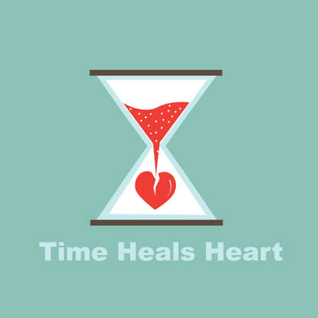 time heals heart concept