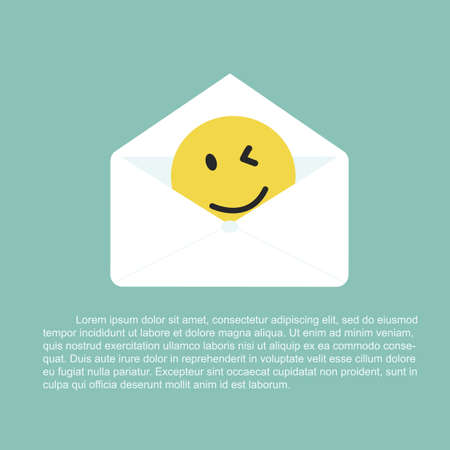 nice day: Open letter with smile - giving consolation Concept