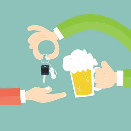 alcool: Safe Drinkingof soi et des autres - Ne pas boire quand vous conduisez