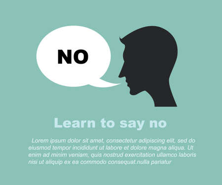 Learn to say no concept Vector
