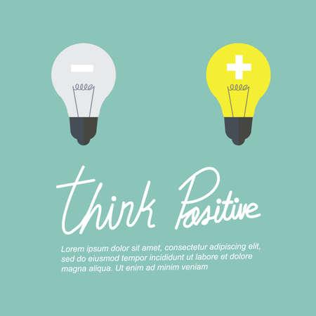 positief: denk positief Stock Illustratie