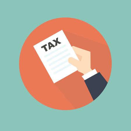 financial burden: tax icon design Illustration