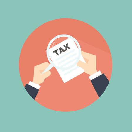kontrolleur: Steuerpr�fer mit der Hand - flach Stil Illustration