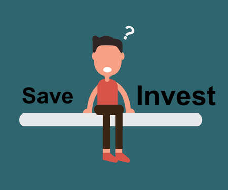 Comparing benefits between save or invest Ilustração
