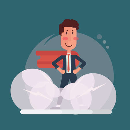 Confident businessman - Super office man