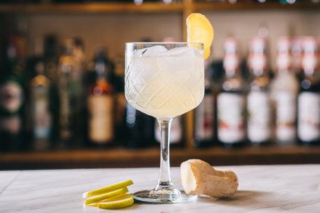 Ginger Lemonade drinks garnish with rosemary in a glass Zdjęcie Seryjne