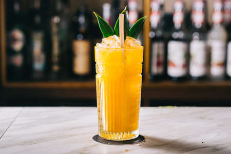 Rosemary Cocktail - Golden Rum, Rosemary, Fruits Juice and Syrup