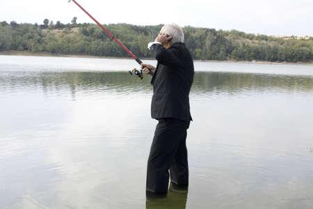 businessman fisherman