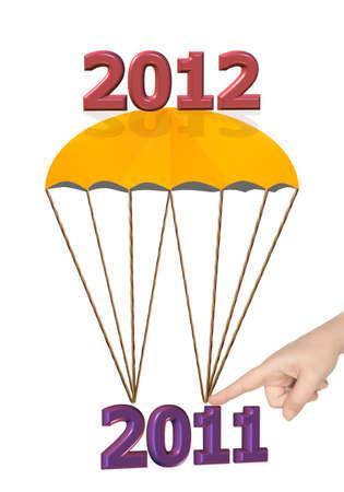 2012 new year illustration Stock Photo