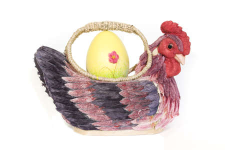 decorate with egg and chicken-bag  Stock Photo
