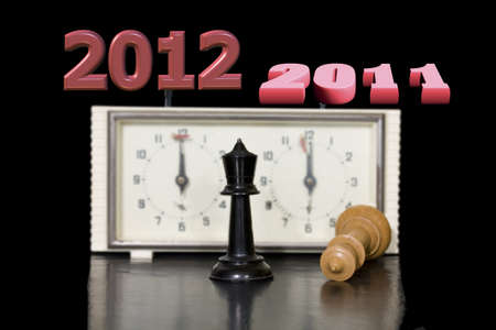 game of chess in the New Year  Stock Photo