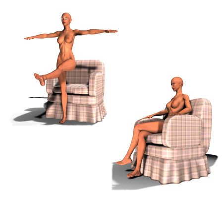 correct posture woman who sit or stand
