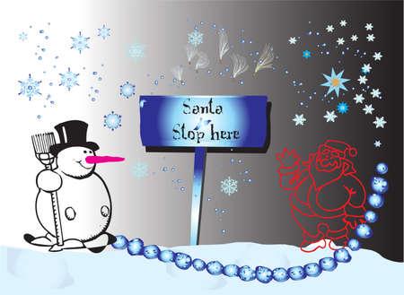 Snowflake and Santa