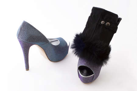 Luxury women s shoes with high heels Stock Photo