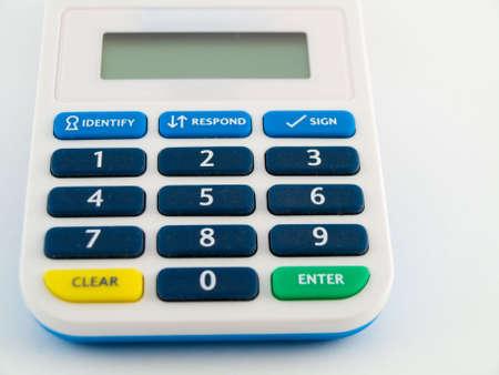 pin code: Bank Security Pin Code Safety Device Calculator Keys