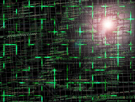 programming code: Green Abstract Programming Code Background Pattern With Grid Stock Photo