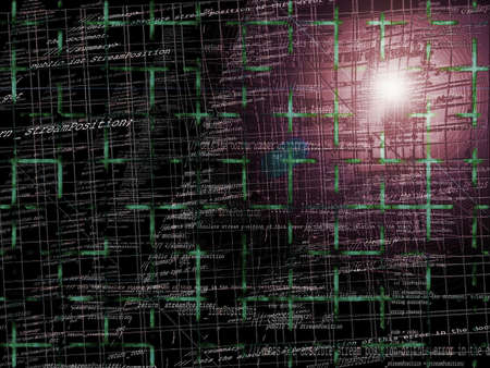 programming code: Abstract Programming Code Background Pattern With Grid