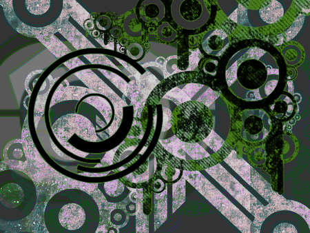 Abstract White And Green Machine Parts over Black Stock Photo - 3369369