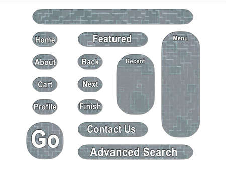 acu: ACU Universal Army Urban Camouflage Effect Web Interface Buttons Stock Photo