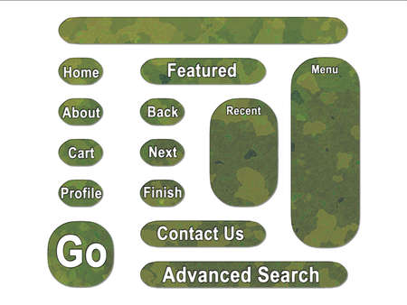Green Jungle British DPM Style Military Camouflage Effect Web Interface Buttons Stock Photo - 3380094