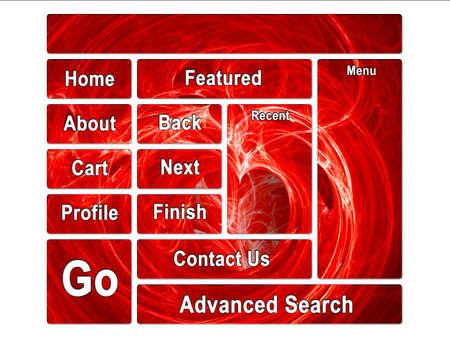 Fractal Swirly  on Fire Website Design Layout Stock Photo - 3380096