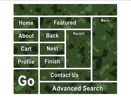 Green Jungle Army Camouflage Website Navigation User Interface Buttons photo