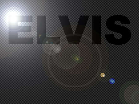 textual: Dotted Lights Elvis Sign Text