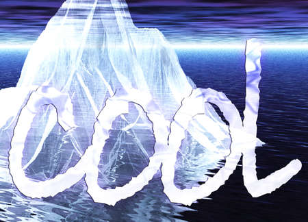 berg: Floating Iceberg Close up with Message Cool
