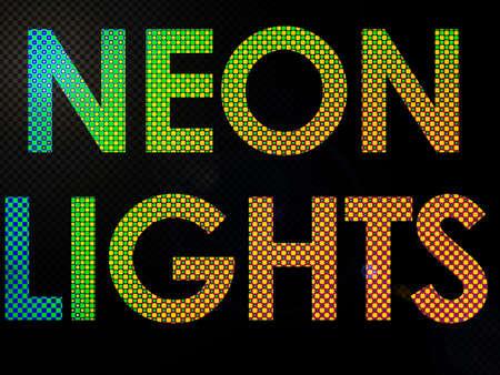 leds: Suscribirse luces de ne�n con Leds de liras en un estilo funky