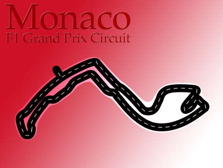 Monaco F1 Formula 1 Racing Circuit Map Stock Photo