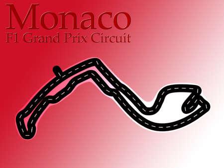 grand prix: Monaco F1 Formula 1 Racing Circuit Map Stock Photo