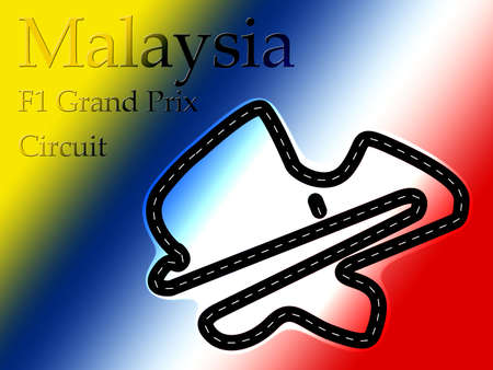 Sepang Malaysia F1 Formula 1 Racing Circuit Map photo
