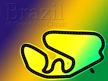Brazil Carlos Pace F1 Formula 1 Racing Circuit Map