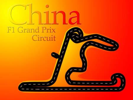 China Shanghai F1 Formula 1 Racing Circuit Map