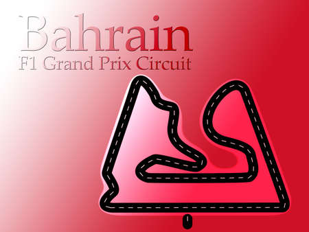 Bahrain F1 Formula 1 Racing Circuit Map