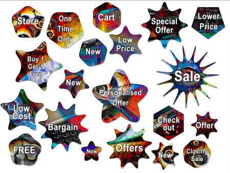 Bright Psychedelic Mobile Phone Backed For Sale Stickers and Star Shapes photo