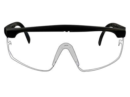 safety goggles: Safety Goggles Glasses Illustration Isolated On White Stock Photo