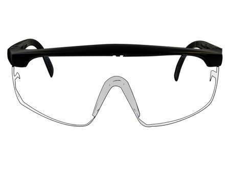 Schutzbrille Brille Illustration isoliert auf weiß